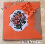 198/2182/Картички-Картички с бродерия ръчно изработени-Ръчно изработена картичка с бродерия на пъстри цветя