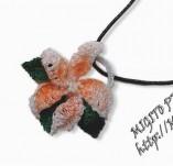 186/2190/Бижута-Плетени бижута -Ръчно изработено плетено колие с цвете