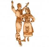 182/2244/Елементи от бирен картон и дърво-Лазерно изрязани фолклорни фигури от бирен картон -Ръченица лазерно изрязан елемент