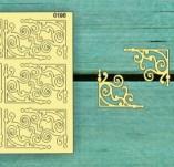 183/2262/Чипборд елементи от бирен картон и дърво-Лазерно изрязани ъгли от бирен картон -Лазерно изрязани ъгли бирен картон