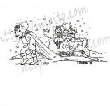 25/2271/Дизайнерски печати и надписи за картички-Нова Година-Печат Весела Нова година с мишоци