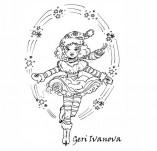 25/2273/Дизайнерски печати и надписи за картички-Нова Година-Печат във вихъра на снежинките