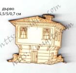 182/2282/Елементи от бирен картон и дърво-Лазерно изрязани фолклорни фигури от бирен картон -лазерно изрязана възрожденска къща дърво 2