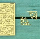 183/2287/Чипборд елементи от бирен картон и дърво-Лазерно изрязани ъгли от бирен картон -Лазерно изрязани ъгли бирен картон