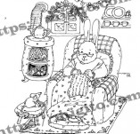 25/2306/Дизайнерски печати и надписи за картички-Нова Година-Топла зимна вечер печат