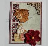 187/2316/Картички-Фолклорни картички -Фолклорна ръчно изработена картичка
