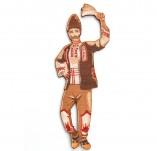 182/2395/Елементи от бирен картон и дърво-Лазерно изрязани фолклорни фигури от бирен картон -Момък лазерно изрязан с носия
