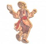 182/2480/Елементи от бирен картон и дърво-Лазерно изрязани фолклорни фигури от бирен картон -Момък