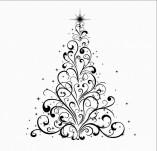 25/2487/Дизайнерски печати и надписи за картички-Нова Година-Дизайнерски печат на новогодишна елха