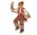 182/2490/Елементи от бирен картон и дърво-Лазерно изрязани фолклорни фигури от бирен картон -Танцуващ момък