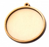 199/2493/Чипборд елементи от бирен картон и дърво-Други лазерно изрязани елементи-Заготовка за медальон