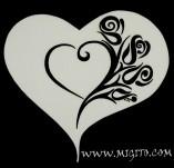 194/2510/Чипборд елементи от бирен картон и дърво-Любов Лазерно изрязани елементи -Лазерно изрязано сърце с рози