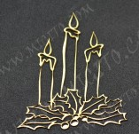 195/2514/Елементи от бирен картон и дърво-Лазерно изрязани елементи Нова година-Лазерно изрязани свещи за нова година бирен картон