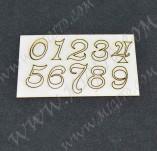 197/2521/Чипборд елементи от бирен картон и дърво-Лазерно изрязани надписи на български от бирен кар-Лазерно изрязани цифри