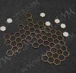 199/2528/Чипборд елементи от бирен картон и дърво-Други лазерно изрязани елементи-Лазерно изрязана пчелна пита бирен картон