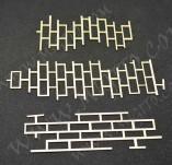 199/2529/Чипборд елементи от бирен картон и дърво-Други лазерно изрязани елементи-Лазерно изрязани имитация на тухли бирен картон