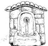 24/253/Design stamps and inscriptions-Retro elements-Fountain