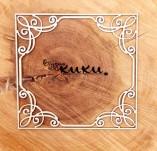 184/2535/Елементи от бирен картон и дърво-лазерно изрязани рамки от бирен картон и дърво -Лазерно изрязана рамка бирен картон 24