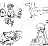 20/256/Дизайнерски печати и надписи за картички-Деца-Сладурковци 2