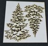 195/2564/Елементи от бирен картон и дърво-Лазерно изрязани елементи Нова година-Лазерно изрязани елхички бирен картон