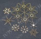 195/2565/Елементи от бирен картон и дърво-Лазерно изрязани елементи Нова година-азерно изрязани нежни снежинки бирен картон