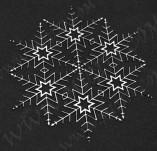 195/2566/Елементи от бирен картон и дърво-Лазерно изрязани елементи Нова година-Лазерно изрязана снежинка бирен картон