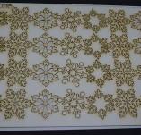 195/2569/Елементи от бирен картон и дърво-Лазерно изрязани елементи Нова година-Сет лазерно изрязани снежинки бирен картон