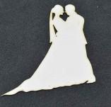 194/2571/Елементи от бирен картон и дърво-Любов Лазерно изрязани елементи -Лазерно изрязан силует младоженци бирен картон 1