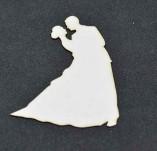 194/2573/Чипборд елементи от бирен картон и дърво-Любов Лазерно изрязани елементи -Лазеро изрязани младоженци 3 бирен картон