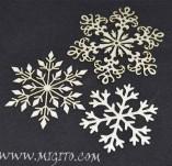 195/2577/Елементи от бирен картон и дърво-Лазерно изрязани елементи Нова година-Лазерно изрязани снежинки бирен картон
