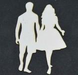 194/2580/Чипборд елементи от бирен картон и дърво-Любов Лазерно изрязани елементи -Лазерно изрязана фигура на влюбени бирен картон