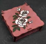 209/2585/Кутии-Лазерно изрязани кутии-Лазерно изрязана кутия дърво червена