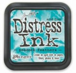 129/2616/Mастила, почистващи средства-Дистрес мастила и апликатори-Distress ink pad by Tim Holtz Peacock Feathers
