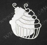 207/2621/Чипборд елементи от бирен картон и дърво-Лазерно изрязани чипборд елементи кулинария -Шейкър елементи заготовка лазерно изрязани бирен картон мъфин 1