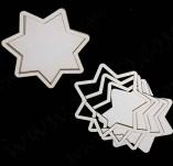 210/2644/Чипборд елементи от бирен картон и дърво-Шейкър елементи-Шейкър елемент заготовка чипборд бирен картон звезда