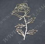 194/2650/Чипборд елементи от бирен картон и дърво-Любов Лазерно изрязани елементи -Лазерно изрязана роза бирен картон