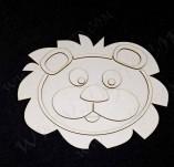 211/2652/Чипборд елементи от бирен картон и дърво-3Д елементи заготовки релеф албуми бирен картон-3Д елементи лъв