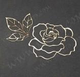 211/2659/Чипборд елементи от бирен картон и дърво-3Д елементи заготовки релеф албуми бирен картон-3д елементи роза бирен картон