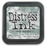 129/2680/Mастила, почистващи средства-Дистрес мастила и апликатори-Distress ink pad by Tim Holtz  Iced Spruce