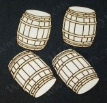 182/2707/Елементи от бирен картон и дърво-Лазерно изрязани фолклорни фигури от бирен картон -Буре лазерно изрязан бирен картон