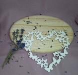 184/2726/Чипборд елементи от бирен картон и дърво-лазерно изрязани рамки от бирен картон и дърво -Рамка с пеперуди лазерно изрязан бирен картон