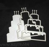 210/2751/Чипборд елементи от бирен картон и дърво-Шейкър елементи-Шейкър елемент заготовка чипборд торта бирен картон лазеро изрязан