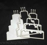 207/2752/Чипборд елементи от бирен картон и дърво-Лазерно изрязани чипборд елементи кулинария -Шейкър елемент торта бирен картон лазеро изрязан 1