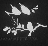 194/2757/Чипборд елементи от бирен картон и дърво-Любов Лазерно изрязани елементи -Клончета с птички лазерно изрязани бирен картон