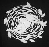 194/2758/Чипборд елементи от бирен картон и дърво-Любов Лазерно изрязани елементи -Гнездо с птички лазерно изрязани бирен картон