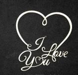 194/2761/Чипборд елементи от бирен картон и дърво-Любов Лазерно изрязани елементи -I love you лазерно изрязан надпис бирен картон 2