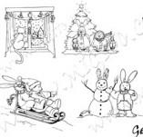 25/311/Дизайнерски печати и надписи за картички-Нова Година-Коледа