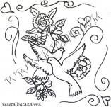 21/319/Дизайнерски печати и надписи за картички-Романтика-Гълъби