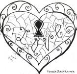 21/321/Дизайнерски печати и надписи за картички-Романтика-Ключът към сърцето ми