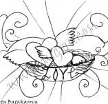 21/322/Дизайнерски печати и надписи за картички-Романтика-Гнездо на любовта